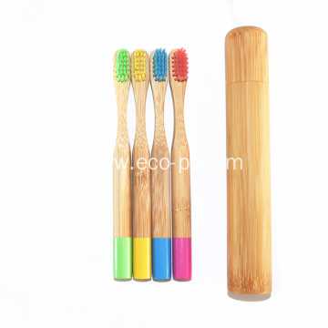 Private Labeling Bamboo Charcoal Teeth Toothbrush With Case